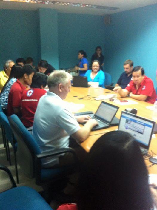 3am at PRC HQ Port Area, Day One, Typhoon Yolanda Catastrophe.
