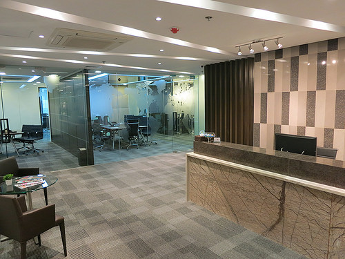 RECEPTION AREA AT VOFFICE PHILIPPINES